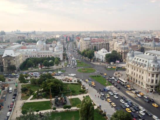 ルーマニアの街並み