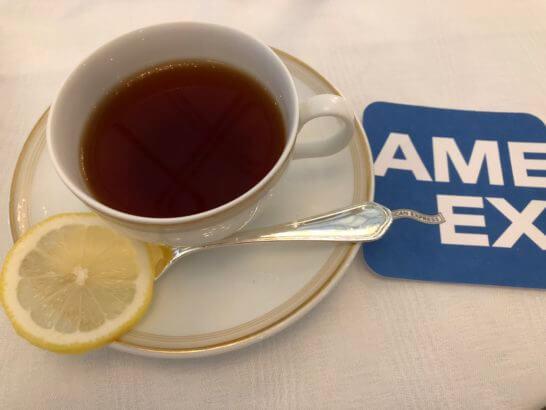 アメックスの東京花火大祭の紅茶