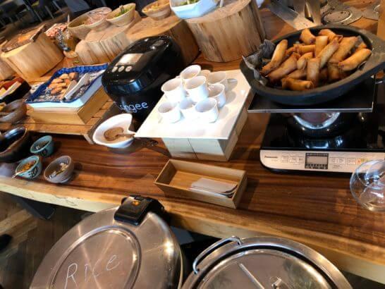 伊豆マリオットホテル修善寺の朝食のホットミール