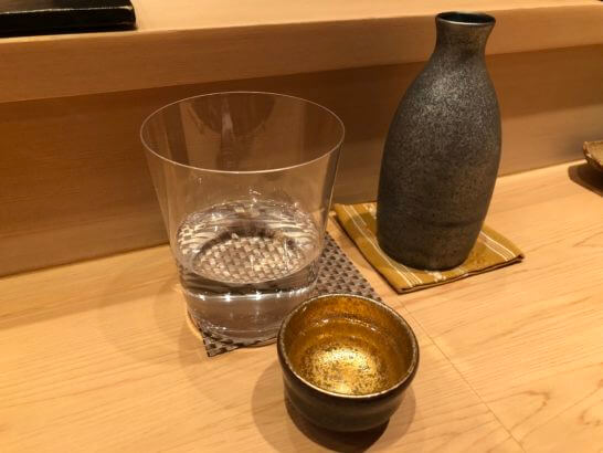 鮨とかみの日本酒