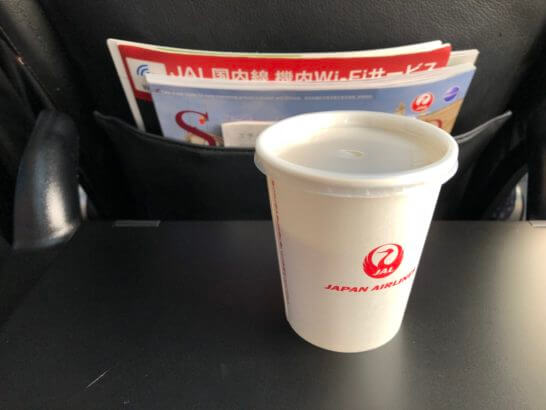 JALの飲み物・機内誌