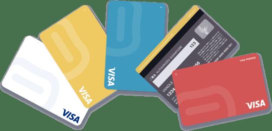 バンドルカード(表側にカード番号を印字しないデザイン)