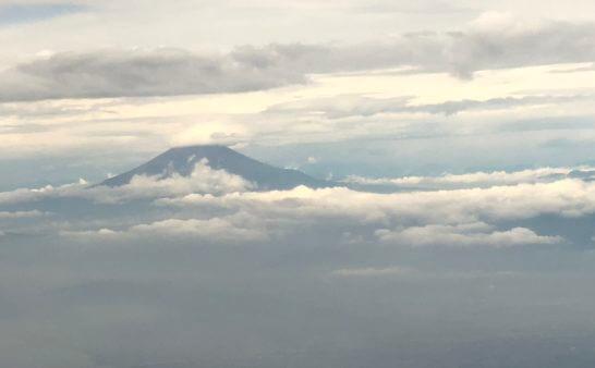 JALの飛行機から見えた富士山