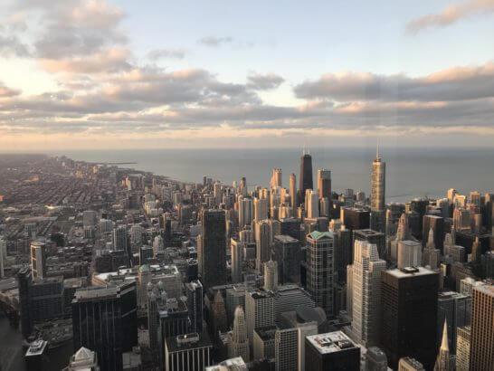 シカゴの夕暮れ