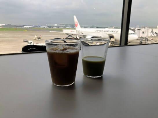 羽田空港のパワーラウンジ ノースの窓からの眺め