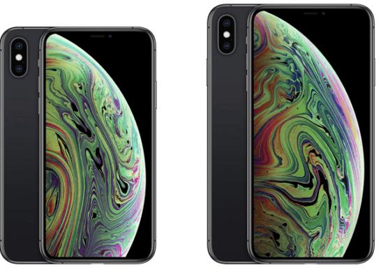 iPhone XS、XS Max(スペースグレイ)