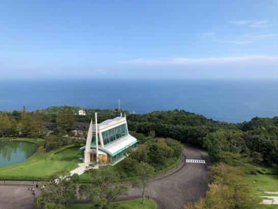 ヒルトン小田原の和洋室デラックスからの景色 (海方向)
