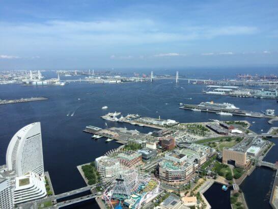 横浜ロイヤルパークホテルのシリウスからの眺め