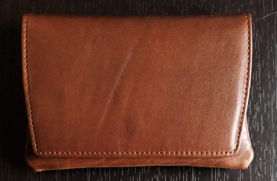 アメックスの誕生日プレゼントの牛革製ポケットティッシュケース