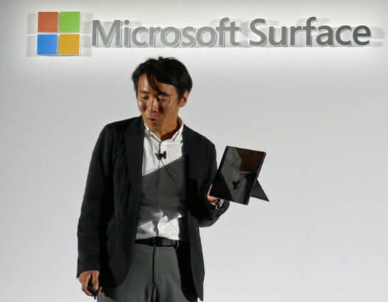 Surface Pro 6を解説する日本マイクロソフト社員