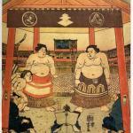 大相撲の溜まり席のイメージイラスト