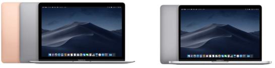 MacBook Air(2018年モデル)と13インチMacBook Pro