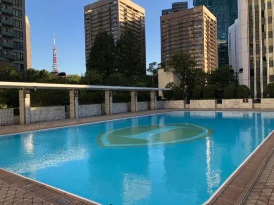 ANAインターコンチネンタルホテル東京のガーデンプール