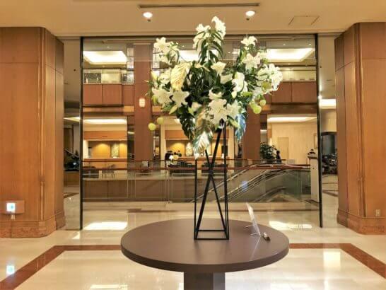 ロイヤルパークホテルのロビーの花