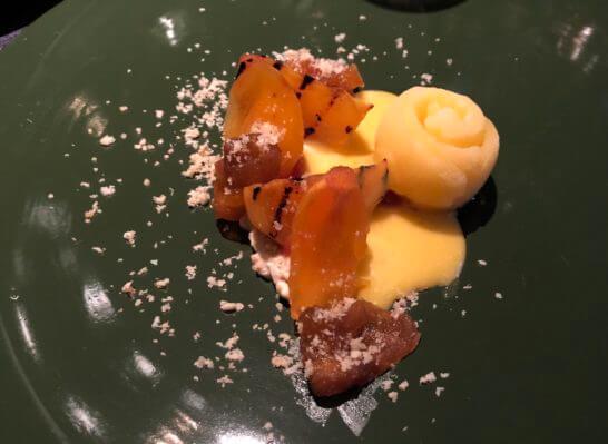 無花果と柚子のヴィーガンチーズタルト