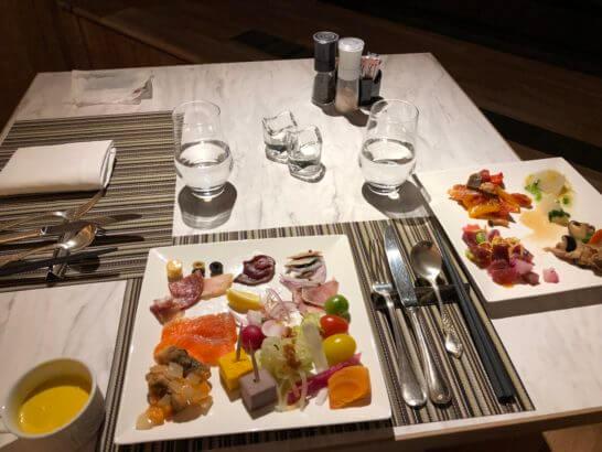 富士マリオットホテル山中湖のディナーの前菜