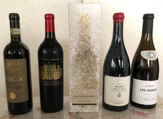 5本のワイン