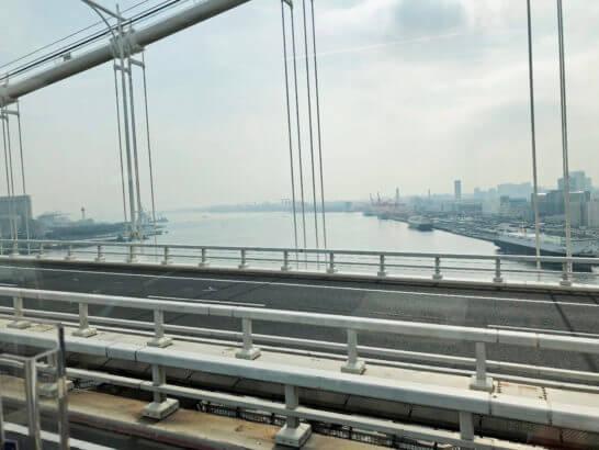 東京レストランバスから見る東京湾