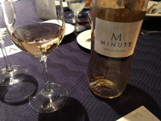 ダイナースクラブ フランスレストランウィークのガラディナーの白ワイン