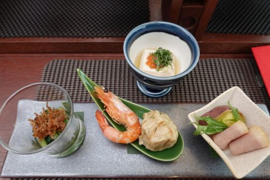 東京レストランバスの和モダンランチ(先付けと口取り)