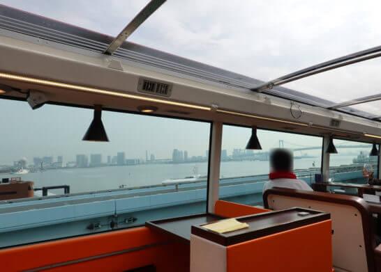 東京レストランバスから見る海