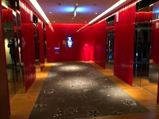 Wホテル台北のエレベーターフロア