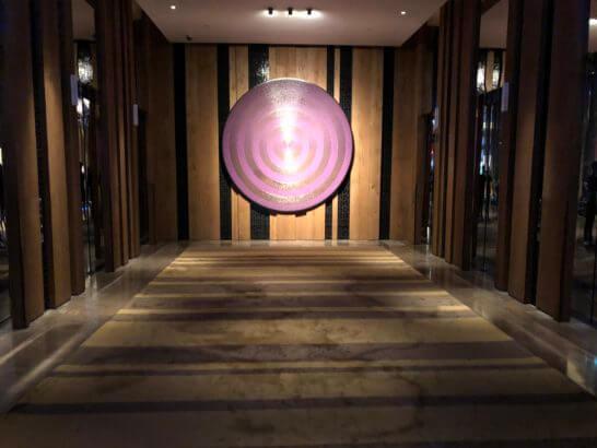 Wホテル台北のエレベーターホール