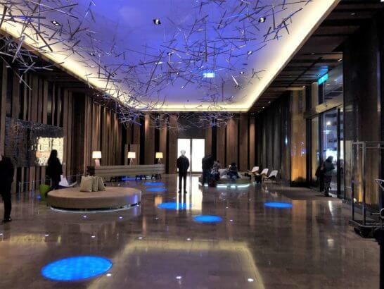 Wホテル台北の1Fロビー