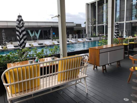 Wホテル台北の朝食会場の窓からの長め