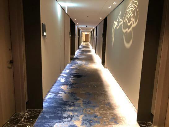 ルネッサンス台北士林ホテルの廊下