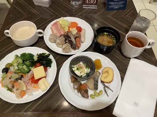 横浜ベイシェラトンホテルのレストランの朝食 (スープ・野菜・タンパク質等)