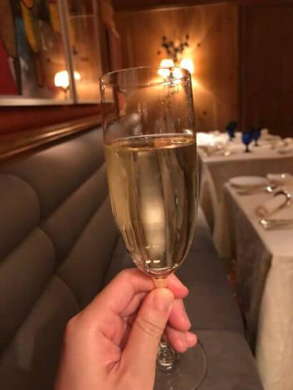 ザ・リッツ・カールトン大阪のスプレンディードのグラスシャンパン