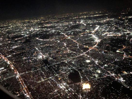 機中からの夜景(羽田空港近辺)