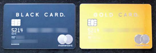 ラグジュアリーカードのブラックカードとゴールドカード