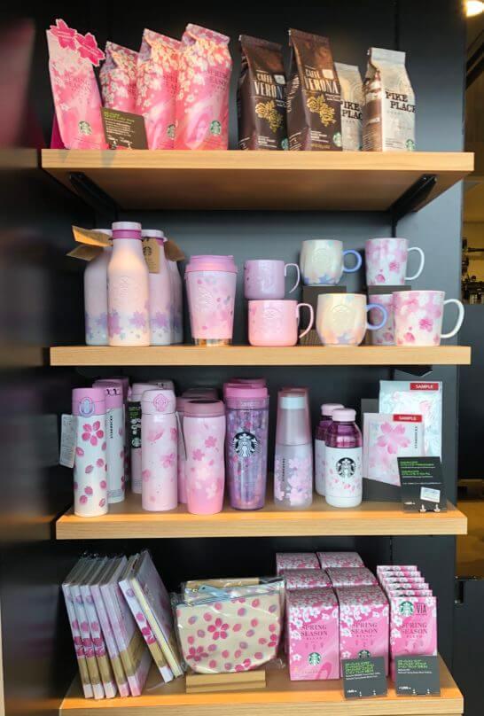 スターバックスの桜グッズ(関西国際空港のスタバ)