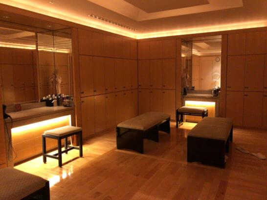 ザ・リッツ・カールトン東京のスパの更衣室