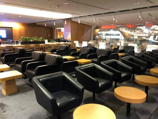 カンタス航空シンガポールラウンジのリラックスゾーン