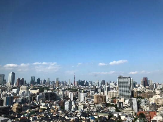 ウェスティンホテル東京の客室からの眺め