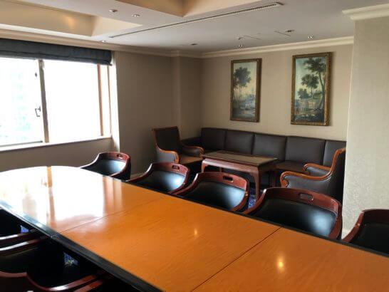 ウェスティンホテル東京のクラブラウンジのミーティングルーム2
