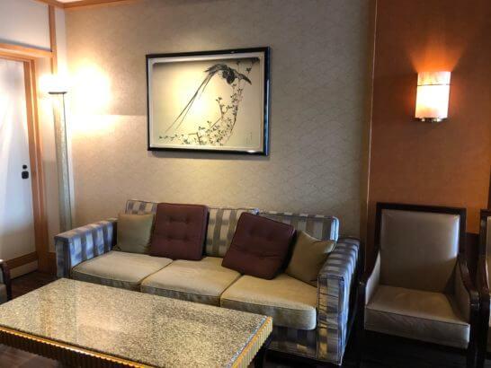 ウェスティンホテル東京の鉄板焼 恵比寿のソファー