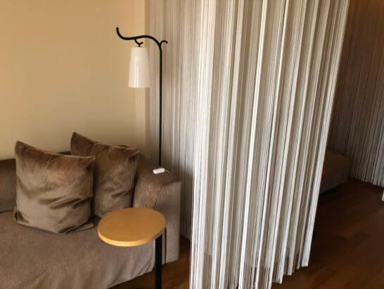 ウェスティンホテル東京のル・スパ・パリジエンの休憩室