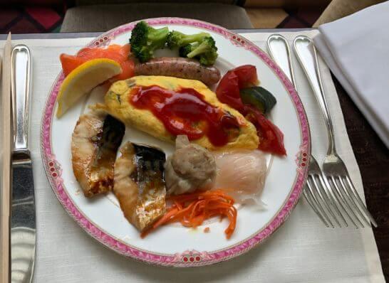 ウェスティンホテル東京のザ・テラスの朝食の温料理