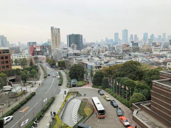 ウェスティンホテル東京の客室からの窓