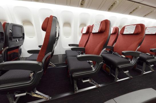 JALのエコノミークラスの座席