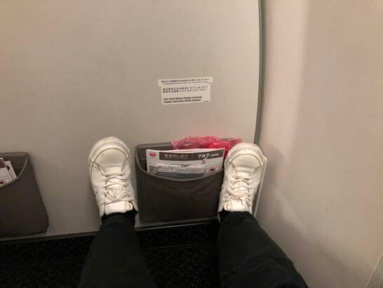 クラスJの座席(最前列)