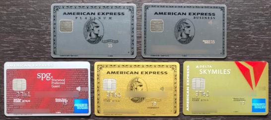 5種類のアメックスのクレジットカード