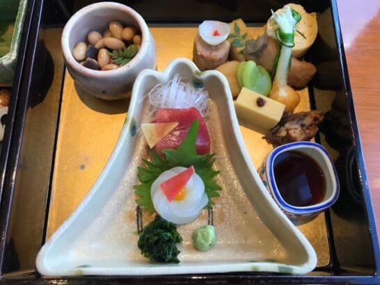 パークハイアット東京の日本料理 梢の刺し身・前菜