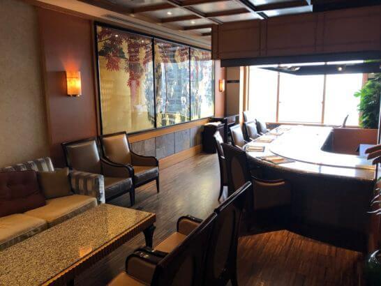 ウェスティンホテル東京の鉄板焼 恵比寿の個室