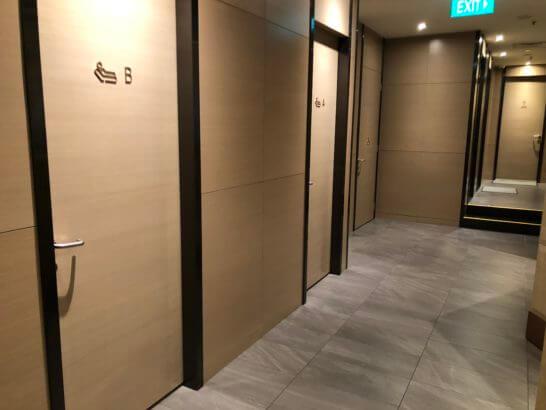 シンガポールのプラザプレミアムラウンジの仮眠室