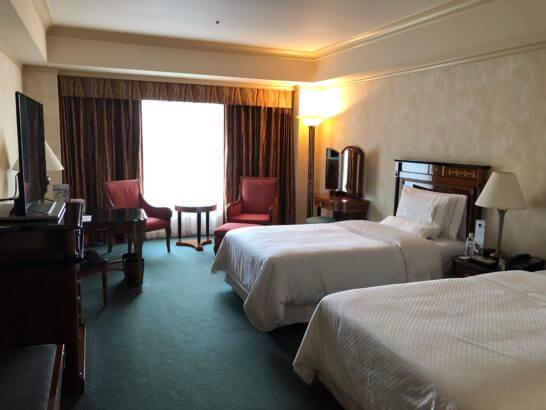 ウェスティンホテル東京のツインルーム(6F)